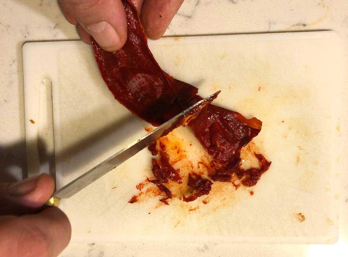 Poulpe à la sauce Romesco préparation 7