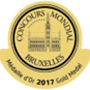 Médaille d'or concours mondial de Bruxelles 2017