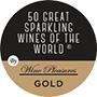 Médaille d'or, 50 meilleurs vins pétillants du monde